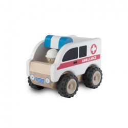 Mini Ambulance i træ fra Wonderworld