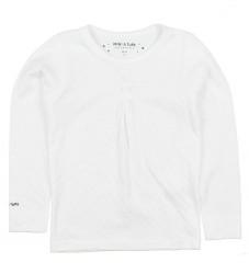 Mini Q Ture Bluse - Hvid m. Hulmønster