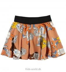 Mini Rodini Nederdel - Orange m. Cheercats
