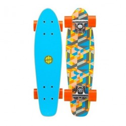 Mini Skateboard Black Dragon Blue