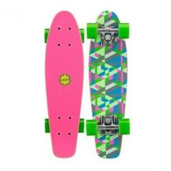 Mini Skateboard Black Dragon Green Pink