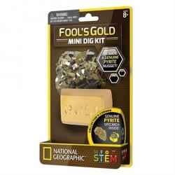 Mini udgravningssæt Fools Gold fra National Geographic