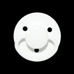 Mininor Rund Narresut Silikone 0m+ 2-pak - Hvid