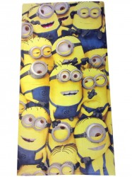 Minions Badehåndklæde 70 x 140 cm (100 procent bomuld)