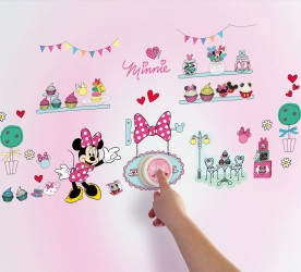 Minnie Mouse Wallstickers Ringeklokke