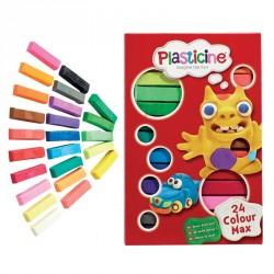 Modellervoks fra Plasticine - Udtørrer ikke - 24 Colour Max