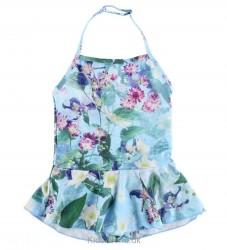 Molo Badedragt - UV50+ - Noelle - Aqua Flowers