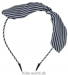 Molo Hårbøjle - Tie Bow - Navy/Hvidstribet