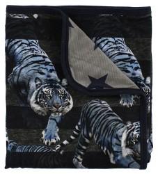 Molo Tæppe - 80x75 - Niles - Blue Tigers