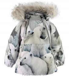 Molo Vinterjakke - Hopla Fur - Polar Bear