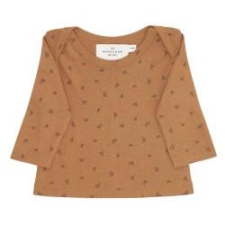Monsieur Mini Baby tshirt mini croissant AOP - CHESTNUT