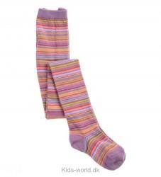 MP Strømpebukser - Pink/Lavendel Multistribet