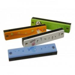 Mundharmonika til børn m. dyrmotiv 12 toner
