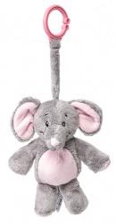 My Teddy, My First Elephant, clip-on - Grå/rosa