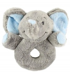 My Teddy Rangle - Elefant - Lysegrå/Lyseblå