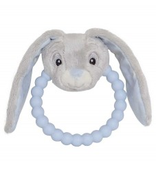 My Teddy Rangle/Bidering - Blå/Grå - Kanin