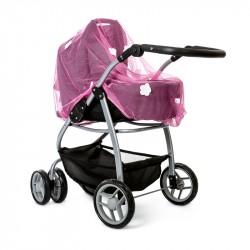 Myggenet til dukkevogn, pink