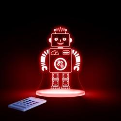 Natlampe med timer og fjernbetjening Robot fra Aloka SleepyLights