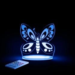 Natlampe med timer og fjernbetjening Sommerfugl fra Aloka SleepyLights