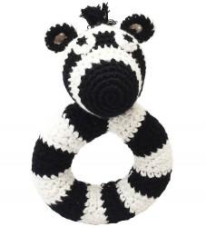 NatureZoo Rangle - Rund - Hr. Zebra - Sort/Hvid