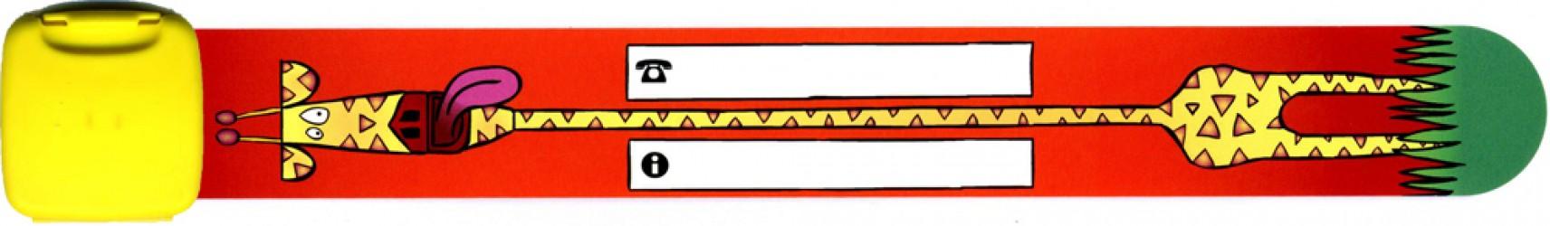 Navnearmbånd fra Infoband - Giraf