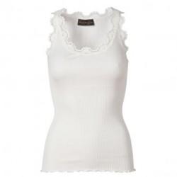 New white Silk Top - 5405-1049 fra Rosemunde