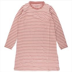 Nordic Label rosa/stribet natkjole