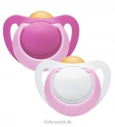 Nuk 2-pak Sutter - Genius - Pink/Hvid