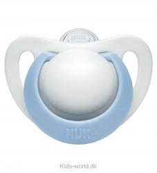 Nuk Sut - Genius - Silikone - Hvid/Lyseblå
