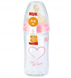 Nuk Sutteflaske - Plast/Latex - 150 ml - Assort. Pige
