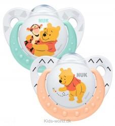 Nuk Sutter - 2-pak - Disney - Silikone - Orange/Turkis