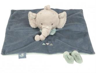 Nusseklud / fingerdukke fra Nattou - Jack Elephant