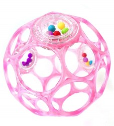Oball Rangle - 9 cm - Pink Gennemsigtig