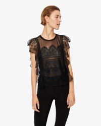 ONLY Eduna S/S Lace bluse