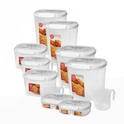 Opbevaringsboks fra Sistema - Hvidt låg - Bakery (3,25L)