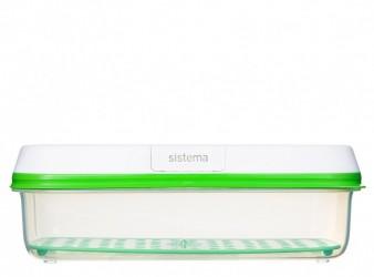 Opbevaringsboks - Sistema Square FreshWorks - long (1,9 liter)
