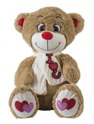 Oppustelige Bamse Love Bear Lysebrun 60cm