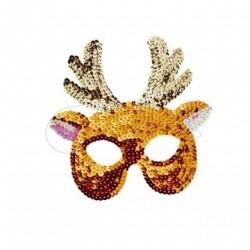 Paillet maske Rudolf til udklædning fra Rice