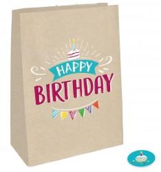 Papir gaveposer m. sticker - My Birthday Party (4 stk)