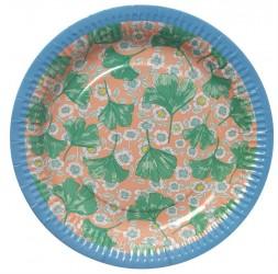 Paptallerken fra Rice - Blomster (8 stk)