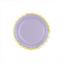 Paptallerken lilla pastel