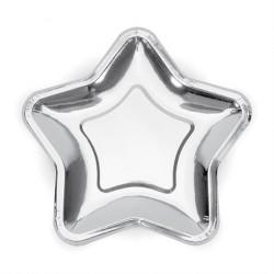 Paptallerken stjerne sølv