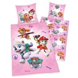 Paw Patrol Pink Sengetøj - 100 procent bomuld