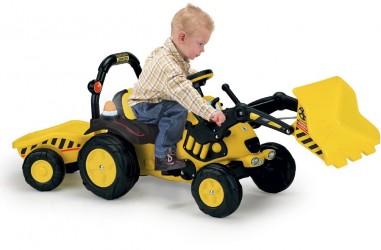 Pedal traktor med grab