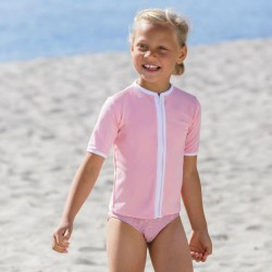 Petit Crabe UV trøje - soft rose korte ærmer