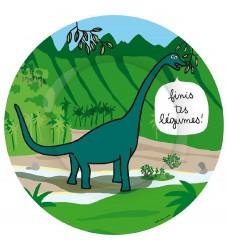 Petit Jour Paris Tallerken - Melamin - Dinosaurus