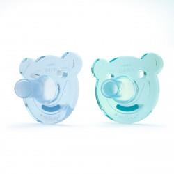 Philips Avent Soothie Shapes 2-pak - grøn/blå