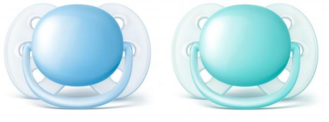 Philips Avent ultra soft sut (0-6 mdr) - blå