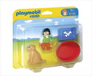 Pige med sin hund - 6796 - PLAYMOBIL 1.2.3