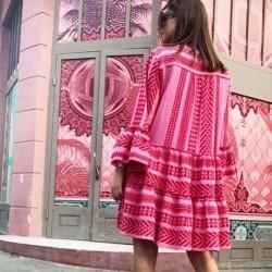 Pink/red Dress Ella 19319 fra Devotion Twins